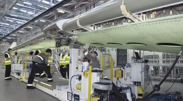 The wings of the new CSeries plane were built in Bombardier's factory in east Belfast