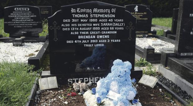 The grave of Brendan Owens