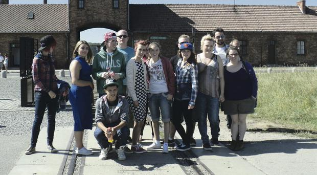 Young people from Carrickfergus, Antrim and Newtownabbey toured Birkenau concentration camp and Schindler's factory during a trip to Poland to study the effects of the Nazi Holocaust with the CAN Detached ProjectStaff