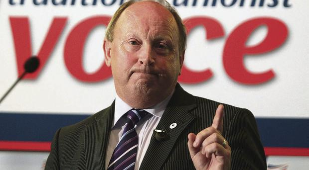 Furious: TUV leader Jim Allister