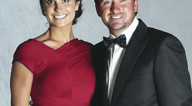 Kristin Stape and Graeme McDowell at the 2012 Ryder Cup gala diner