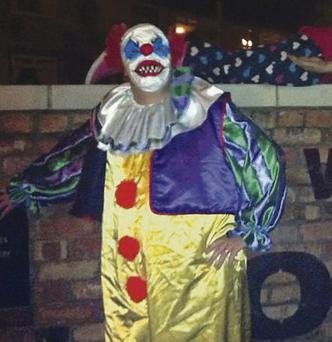 The clown from 1990 horror movie It, played by Tim Curry, sparked an imitator in Carrickfergus