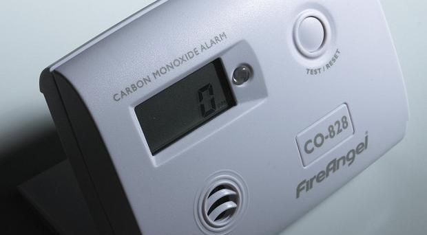 Householders have been urged to make sure they have fitted a carbon monoxide alarm.