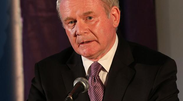 Martin McGuinness said recent unrest has posed a real challenge to the political institutions in Northern Ireland