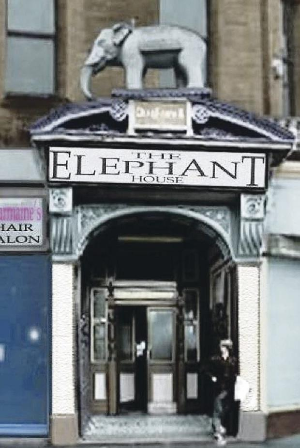 The Elephant House back in its glory days, when Nellie stood proud on her perch