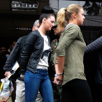Michaella McCollum Connolly, left, and Melissa Reid, have both pleaded guilty to drug smuggling (AP)
