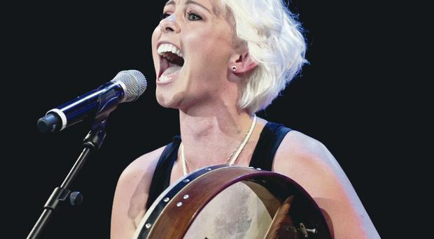 Andrea Magee won over the judges her bodhran along to X-Factor bootcamp