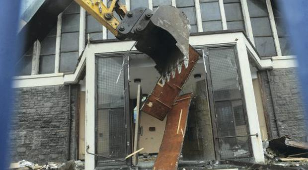 Work under way to demolish Harryville Catholic church in Ballymena