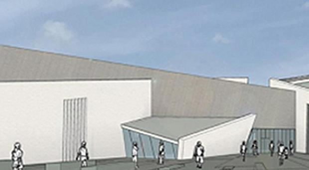 An artist's impression of how the peace centre would have looked