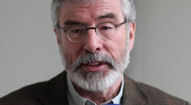 Gerry Adams has accused unionist political leaders of hypocrisy