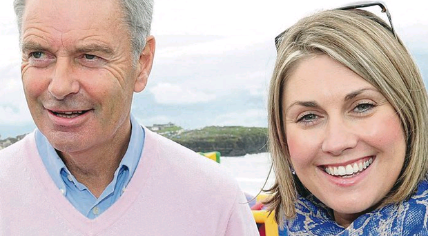 Happy memories: Sarah Travers and her father Ian enjoy a day out