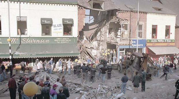 IRA bomb in Frizell's Fish shop killed 9 innocent people and one bomber.