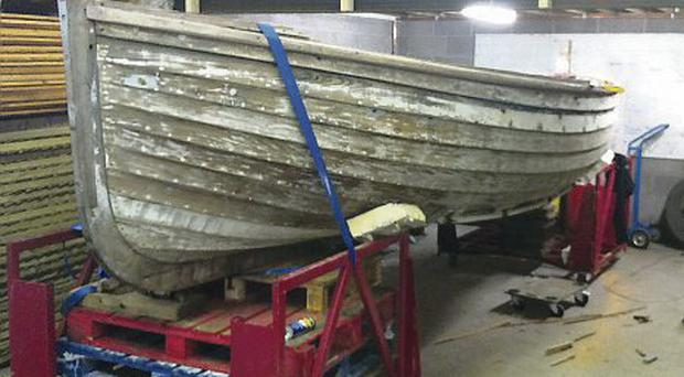 How the boat looked beforehand