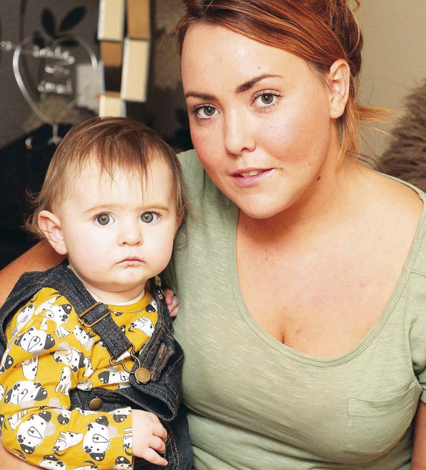 Deirdre Brennan, with one-year-old daughter Ella, had to pay £55 for excess luggage on an easyJet flight