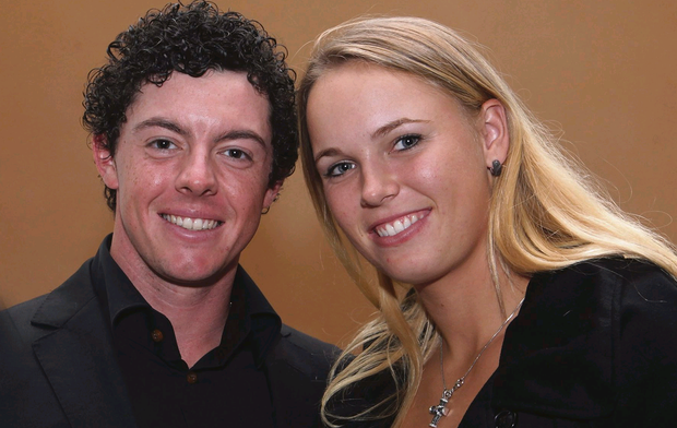 Northern Ireland golf star Rory McIlroy with Caroline Wozniacki
