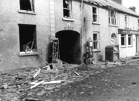 The aftermath of the bomb explosion in Claudy in 1972