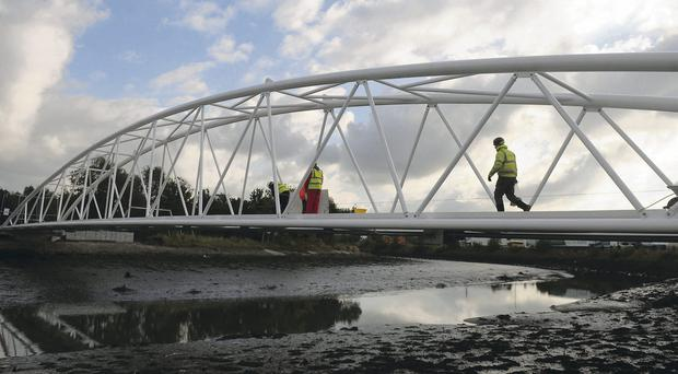 Sam Thompson Bridge is almost ready for the general public to use at Victoria Park in east Belfast