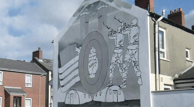 The mural at the junction of Carlingford Street and Ardenvohr Street in East Belfast