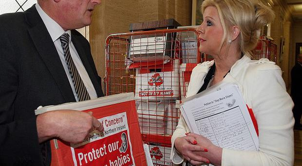 Anti-abortion activist Bernie Smyth (right) has vowed to oppose any move to liberalise abortion in Northern Ireland.