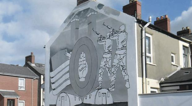 A new UVF mural is being painted in Willowfield
