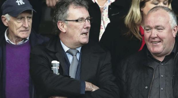 Ulster Unionist leader Mike Nesbitt at Sundays Down SFC final between Burren and Kilcoo at Pairc Esler, Newry.