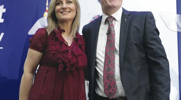 Party leader Mike Nesbitt with his wife Lynda Bryans