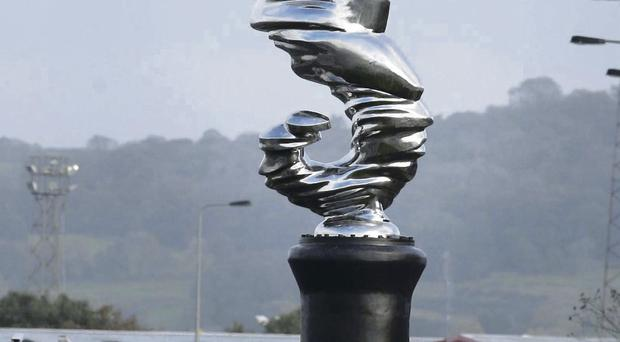 Belfast Harbour's seahorse sculpture was unveiled close to the main port entrance