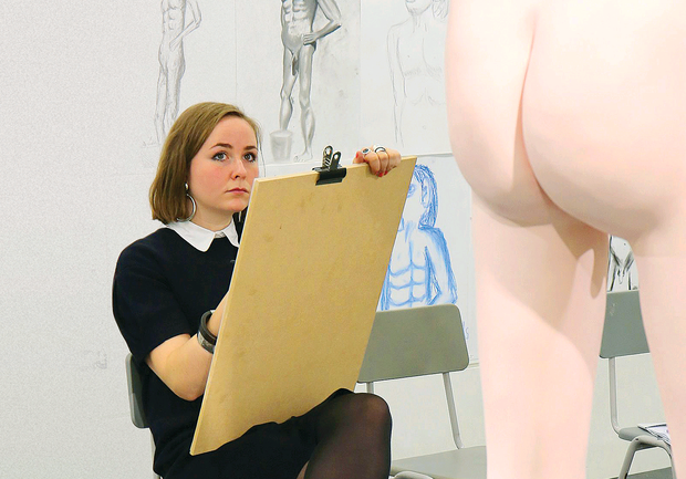 Turner Prize nominee David Shrigley's piece entitled 'Life Model'