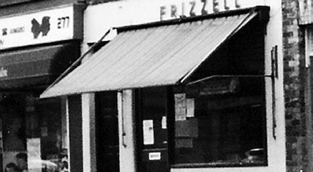 How Frizzell's fish shop looked before the bomb exploded. Photo Bobby Foster