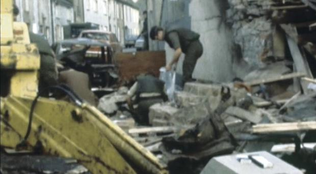 Scene after the Keady bomb in 1976
