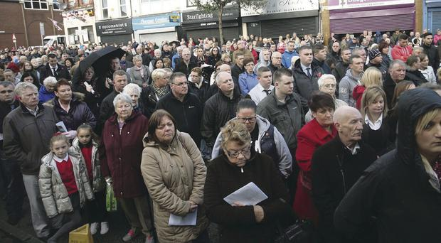 Crowds on the Shankill Road