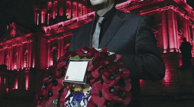 This year's local Poppy Appeal was launched by beneficiary David Smith