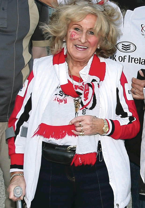 Ulster Rugby fanatic Ruth Kohner