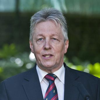 First Minister Peter Robinson described the investment by manufacturing giant Caterpillar as positive