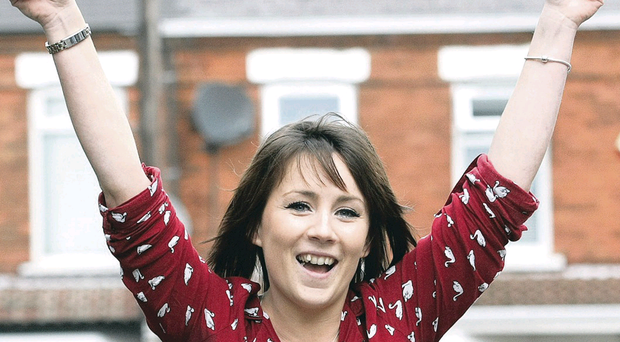 Jane Arbuthnot, who won £20,000 from the Belfast Telegraph lottery competition