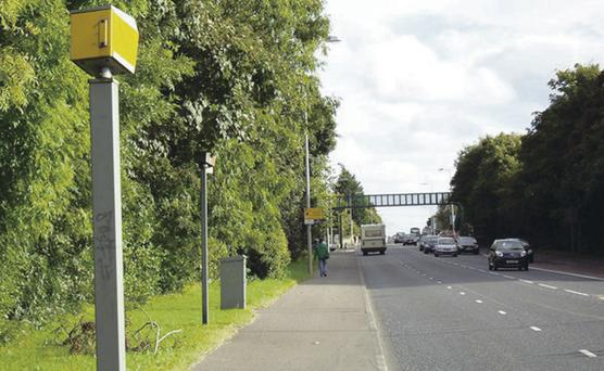 The notorious speed camera at Saintfield Road, Belfast