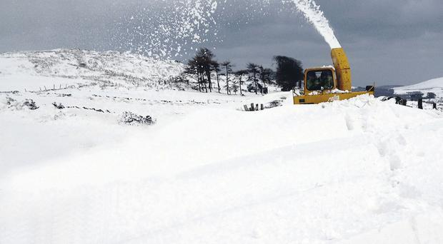 Heavy snow in the Mourne Mountains last winter created treacherous conditions