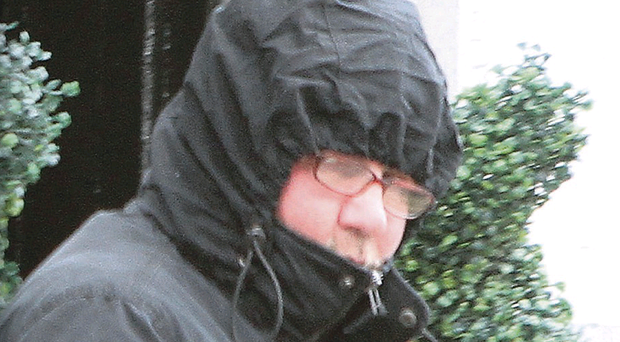 John Gallagher leaves Strabane Courthouse after a previous hearing