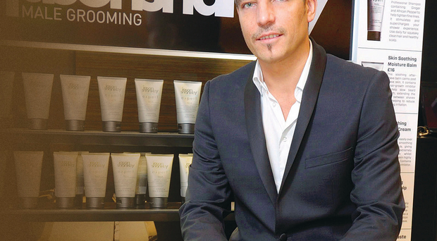 Jason Shankey, CEO of Jason Shankey Male Grooming, at his salon in the House of Fraser store in Victoria Square, Belfast