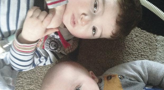 Ben Johnston with baby brother Harry