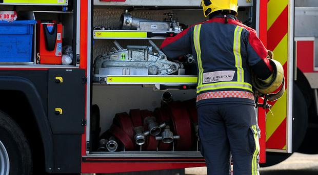 A man has been rescued after he became trapped in a pit in Hillsborough.