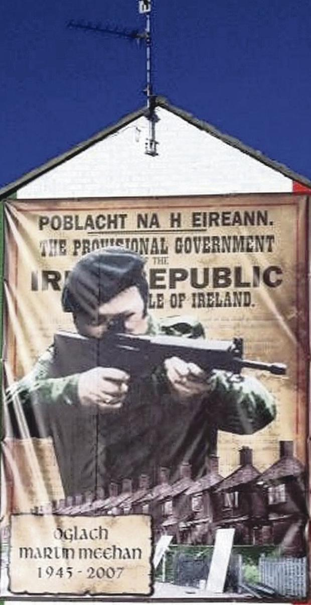 Martin Meehan mural in north Belfast's Ardoyne area