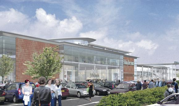 An artist's impression of the planned John Lewis store at Sprucefield, Co Antrim