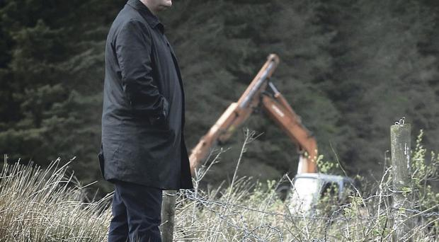 Darragh MacIntyre at a search in Bragan Bog, Co Monaghan in the documentary The Disappeared.