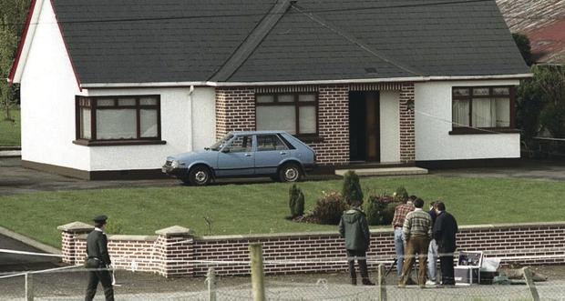 The murder scene in Dungannon Co. Tyrone where 76 year old Roseanne Mallon was shot dead by Loyalist gunmen