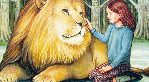 Jonathan Barry CS Lewis exhibition exhibition at Belfast's Linen Hall Library: Aslan's Return