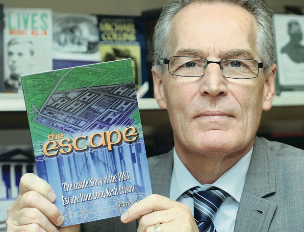 Gerry Kelly at the launch of his book on the Falls Road l