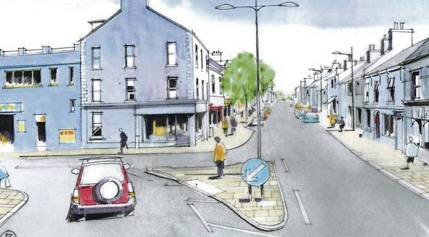 An artist's impression of the improvements planned for Donaghadee seafront