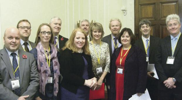 MP Naomi Long with the Castlereagh Principals at Stormont