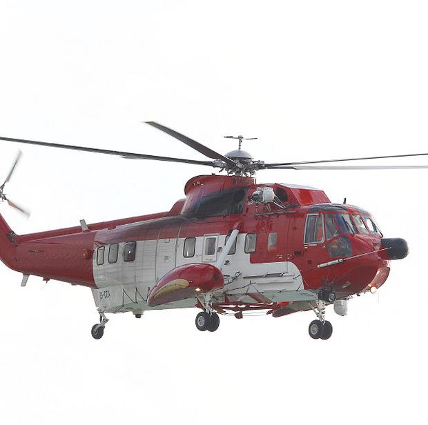 An Irish Coastguard helicopter was deployed after a plane made an emergency landing